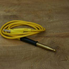 Cosmolife_acupunctuur kogelpunt verguld met bananenstekker aansluiting
